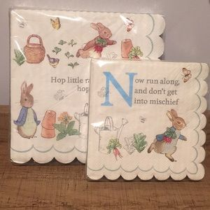 Adorable Peter Rabbit paper napkins